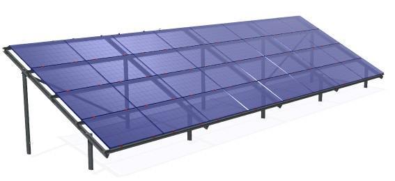 Система кріплення фотоелектричних модулів мод. 5916
